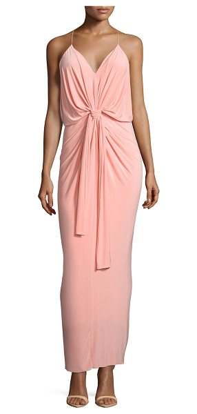 "T-bags Los Angeles Sleeveless tie-front maxi dress in pink - T Bags jersey maxi dress. Approx. length: 50""L down..."
