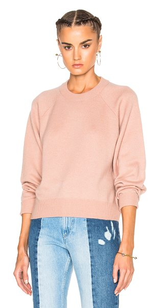 T by Alexander Wang Cashmere Crew Sweater in pink - 90% wool 10% cashmere.  Made in China.  Dry clean only. ...