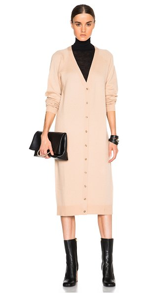 T by Alexander Wang Cashwool jersey cardigan dress in neutrals - 90% wool 10% cashmere.  Made in China.  Unlined.  Knit...