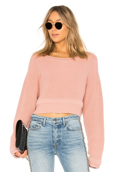 T by Alexander Wang Chunky Trim Pullover in rose - T by Alexander Wang combines the perfect balance of cozy...