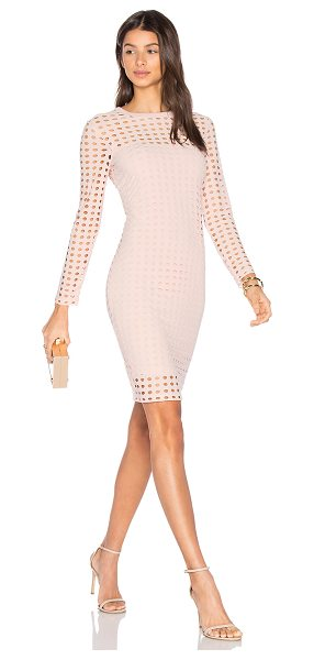 T by Alexander Wang Circular Hole Long Sleeve Dress in pink - A modern masterpiece. This artful design from T by...
