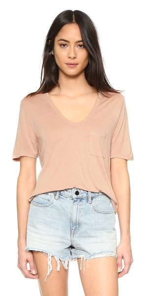 T by Alexander Wang Classic cropped tee in blush - A T by Alexander Wang cropped tee, styled with a deep U...