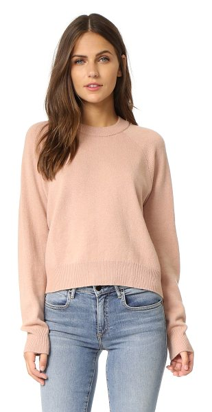 T by Alexander Wang crop crew neck sweater in peach - A slouchy, knit T by Alexander Wang crop top in a cozy...