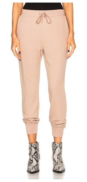 T by Alexander Wang French Terry Sweatpants in sandstone - Self: 69% cotton 17% poly 14% modalRib: 60% cotton 40%...