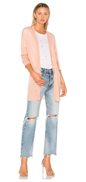 T by Alexander Wang Gauze Cashmere Cardigan in pink - A light-as-air wool blend shapes the time-honored design...