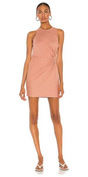 T by Alexander Wang heavy soft jersey fitted tank dress in pink nude