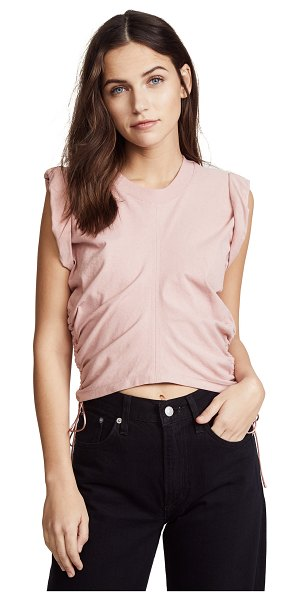 T BY ALEXANDER WANG jersey crop top with side ties in candy - Fabric: Jersey Vertical middle seams Fixed cuffs Side...