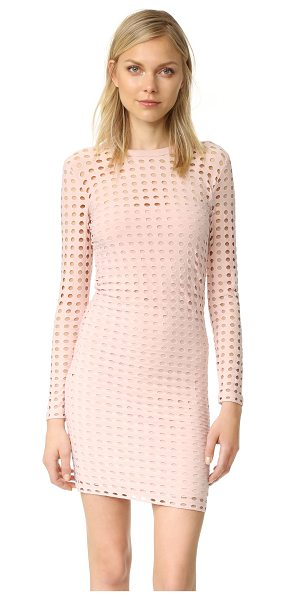T by Alexander Wang jersey jacquard fitted dress in blush - A formfitting T by Alexander Wang dress, composed of...