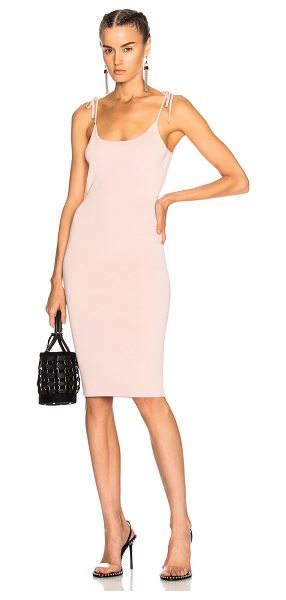 T by Alexander Wang Midi Tank Dress in pink - 88% viscose 11% nylon 1% elastan.  Made in China.  Dry...
