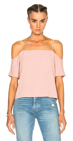 T by Alexander Wang Off shoulder top in pink - 100% poly.  Made in China.  Dry clean only.  Breast...