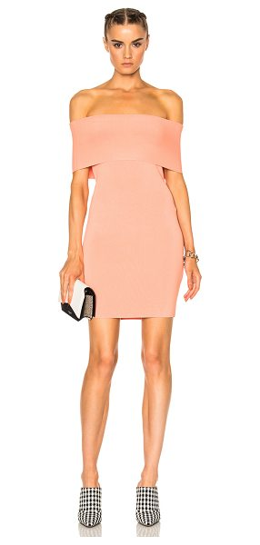 T BY ALEXANDER WANG Off The Shoulder Dress - 87% rayon 12% nylon 1% spandex. Made in China. Dry clean...