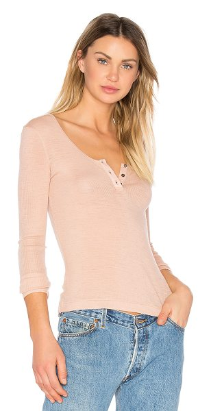 T BY ALEXANDER WANG Sheer Wooly Henley - Blushing wool creates the perfect basic in T by...