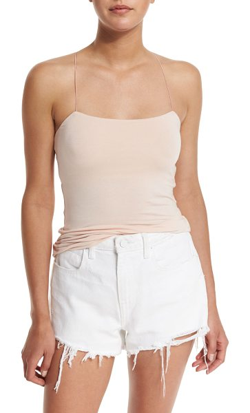T by Alexander Wang Strappy Stretch Jersey Tank in blush - T by Alexander Wang stretch jersey tank. Features an...