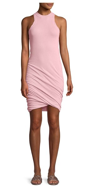 T by Alexander Wang Twisted-Yarn Muscle Tank Dress in pink - T by Alexander Wang twisted-yarn tank dress. Crew...