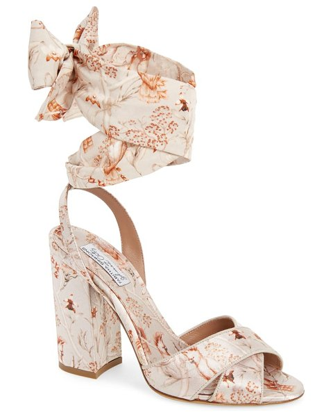 Tabitha Simmons connie wrap lace-up sandal in beige