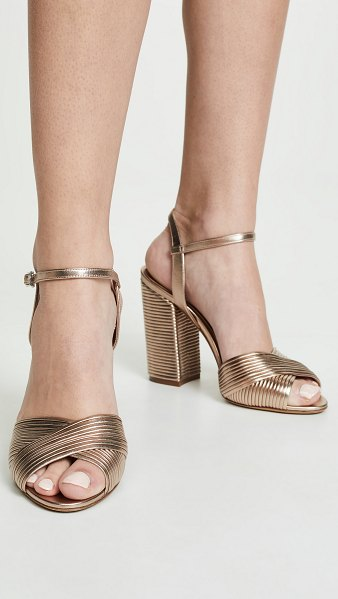Tabitha Simmons kali heeled sandals in rose gold metallic