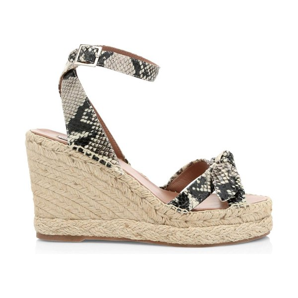 Tabitha Simmons ross snakeskin-embossed leather wedge espadrilles in python