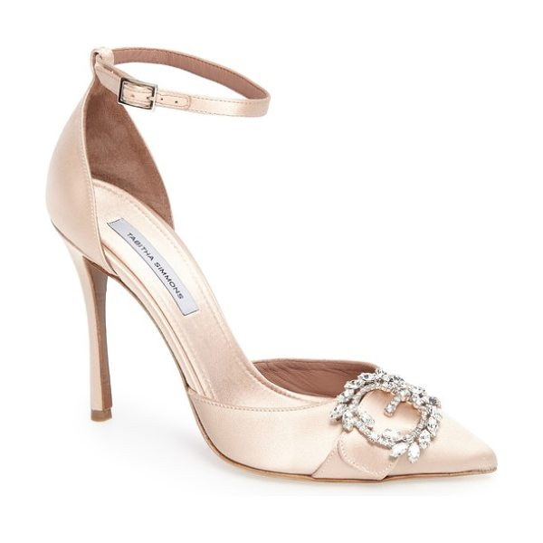 TABITHA SIMMONS tie the knot crystal buckle pump - A buckle set with Swarovski crystals sparkles at the...