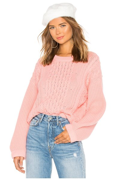 Tabula Rasa Nebusa Sweater in pink - 100% merino wool. Hand wash cold. Rib knit trim....
