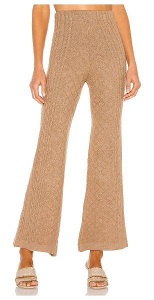 Tach Clothing agafia knit pant in light brown