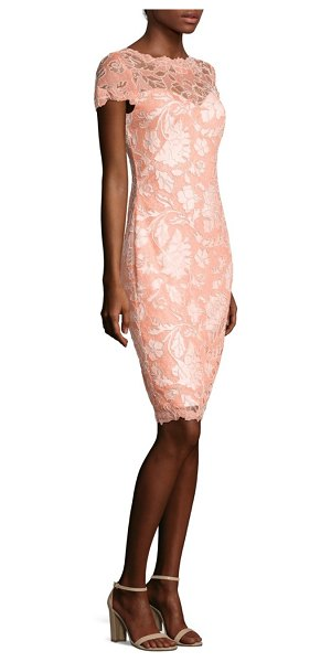 TADASHI SHOJI floral embroidered sheath dress - Figure-flattering dress with floral embroidery....
