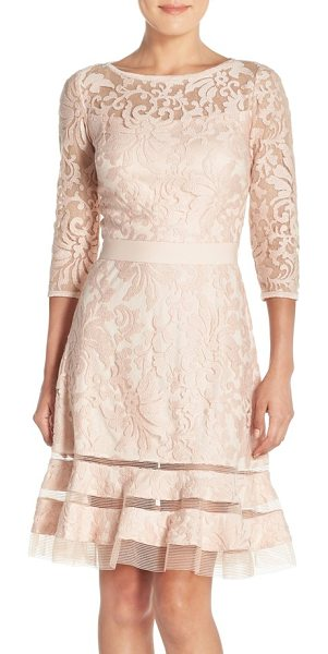 Tadashi Shoji petite   lace overlay dress in primrose - Elaborate textured lace bolsters the vintage-inspired...