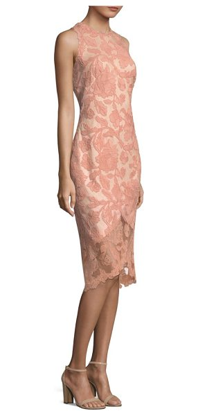 TADASHI SHOJI lace hi-lo dress - Eye-catching knee-length dress with lace overlay detail....