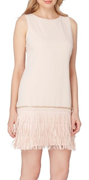 Tahari fringe shift dress in petal - Taking inspiration from vintage flapper silhouettes,...