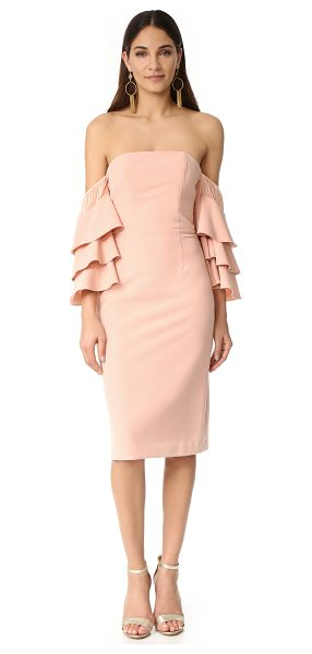 Talulah sunny ruffle dress in pink - A strapless Talulah dress with dramatic ruffles at the...