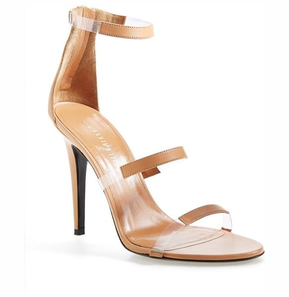 Tamara Mellon frontline sandal in nude - Transparent insets create the illusion of floating...