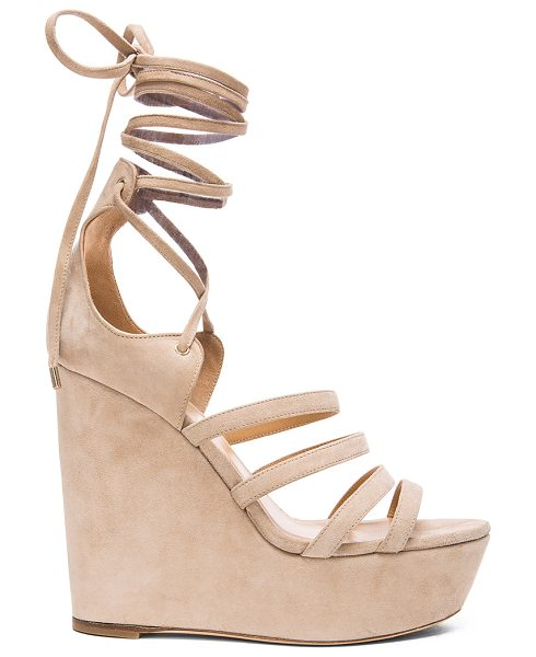 TAMARA MELLON Yosemite suede wedge sandals - Suede upper with leather sole.  Made in Italy.  Approx...