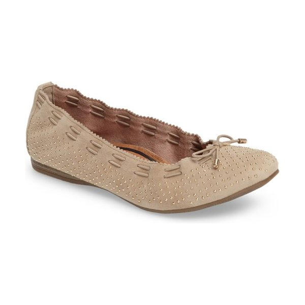 TAMARIS 'alena' cap toe flat - A smooth leather ballet flat is fashioned with a stylish...