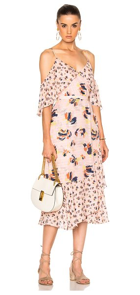 Tanya Taylor Floral Amylia Dress in floral,pink - Self: 100% silk - Lining: 100% poly.  Made in China. ...