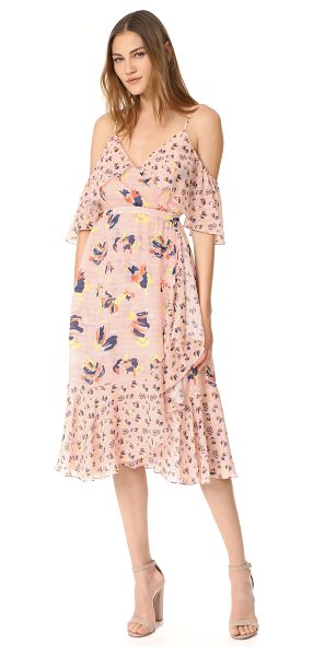 Tanya Taylor textured silk abstract floral amylia dress in rose multi - NOTE: Runs true to size. Mixed floral prints accentuate...