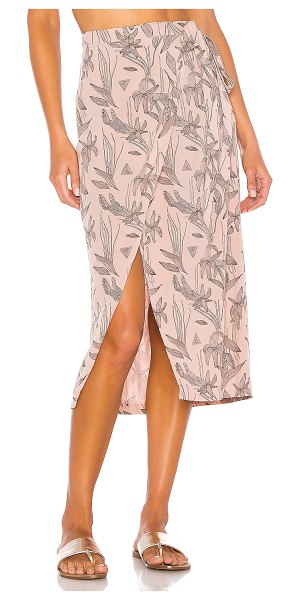 Tavik alan wrap skirt in clay orchid