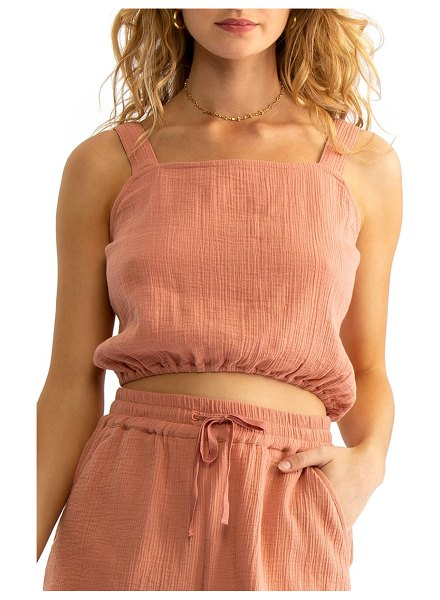 Tavik ginny cover-up tank in coral