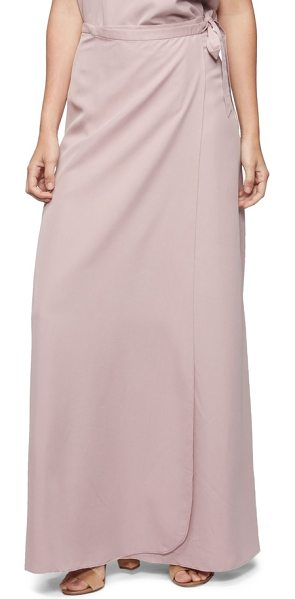 Tavik lasting impressions cover-up maxi skirt in dauville mauve - A convenient true-wrap style makes this sweeping, A-line...