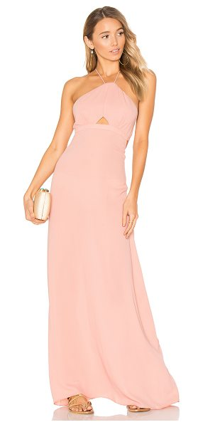 "Tavik Kennington Dress in pink - ""100% poly. Unlined. Adjustable halter straps. Front..."