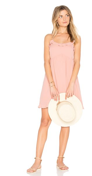 Tavik Morning Glory Dress in pink - Self & Lining: 100% poly. Fully lined. Ruffled trim....