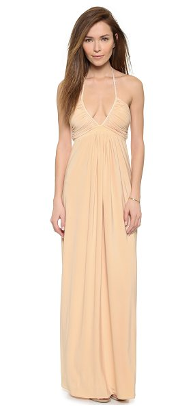 T-bags Los Angeles V neck maxi dress in cream - A Tbags Los Angeles maxi dress cut from smooth jersey,...