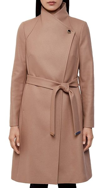 Ted Baker Aurore Long Wrap Coat in camel - Ted Baker Aurore Long Wrap Coat-Women