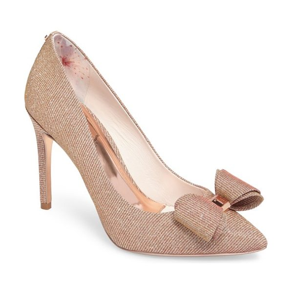 TED BAKER azeline bow pump - A hardware-embellished bow adds a signature flourish to...