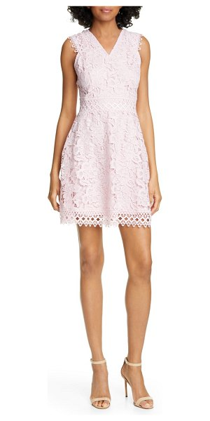 Ted Baker beniel fit & flare lace party dress in pink
