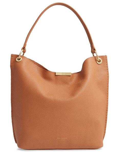 Ted Baker candiee bow leather hobo in brown