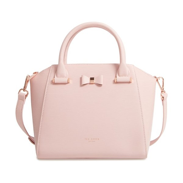 Ted Baker bow tote in light pink - This structured leather tote is a manageable size for...