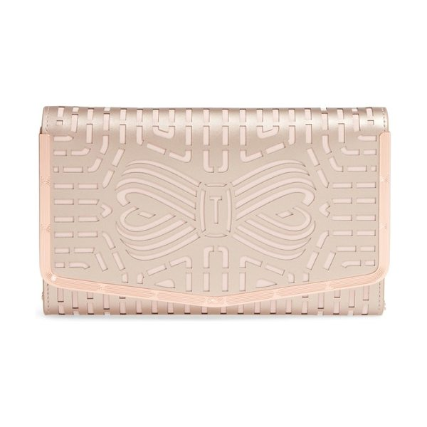 ad88ff30a67 Ted Baker Bree Laser Cut Bow Leather Clutch | Nudevotion