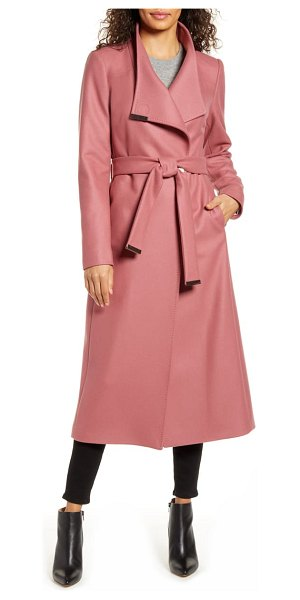 Ted Baker gwynith wool blend wrap coat in pink