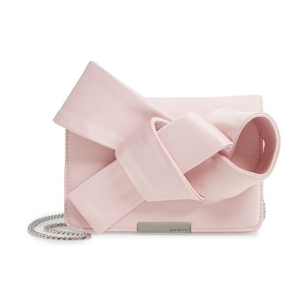 Ted Baker janyce twisted bow clutch in pink