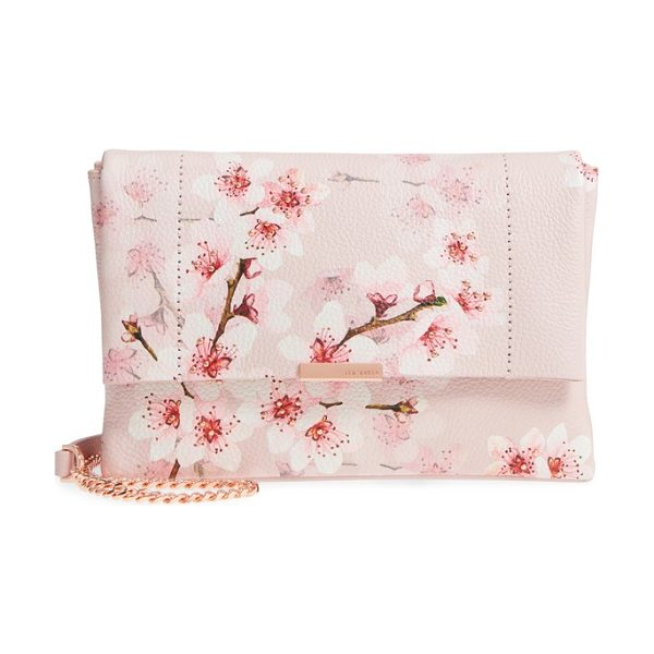 Ted Baker jayy soft blossom leather crossbody bag in light pink - Gorgeous blossoms accented with polished studs cover the...