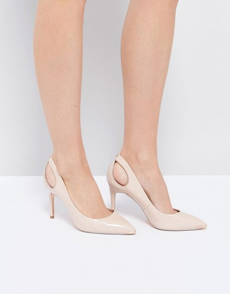 "Ted Baker Jesamin Patent Bow Cutout Pumps in beige - """"Heels by Ted Baker, Patent leather upper, Slip-on..."